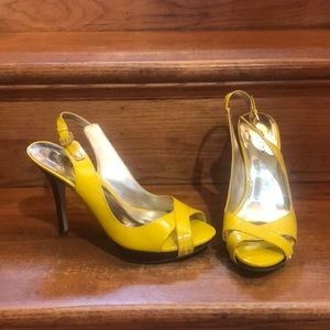 Yellow Guess high heels